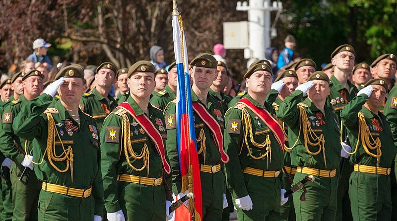ceremonial events devoted to the 72nd anniversary of the Great Victory in Tiraspol, Transnistria. Photo Credit: Пресс-служба Президента ПМР