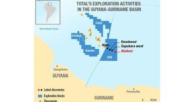 Total in Guyana-Suriname Basin. Credit: Total