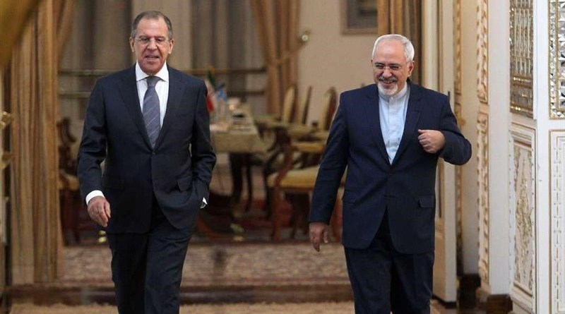 Iranian Foreign Minister Mohammad Javad Zarif and his Russian counterpart Sergey Lavrov at a meeting in Moscow. Photo Credit: Tasnim News Agency