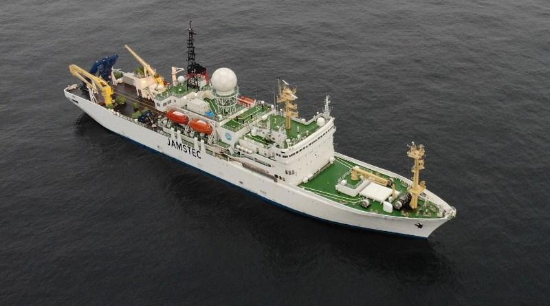 The RV Mirai navigating the ice-free Arctic Ocean in October 2019. CREDIT Jun Inoue (NIPR)