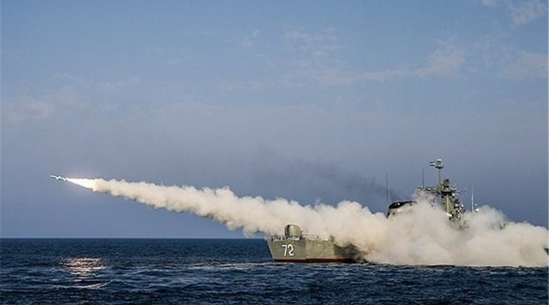 File photo of an Iranian warship firing a missile during military drill. Photo Credit: Tasnim News Agency