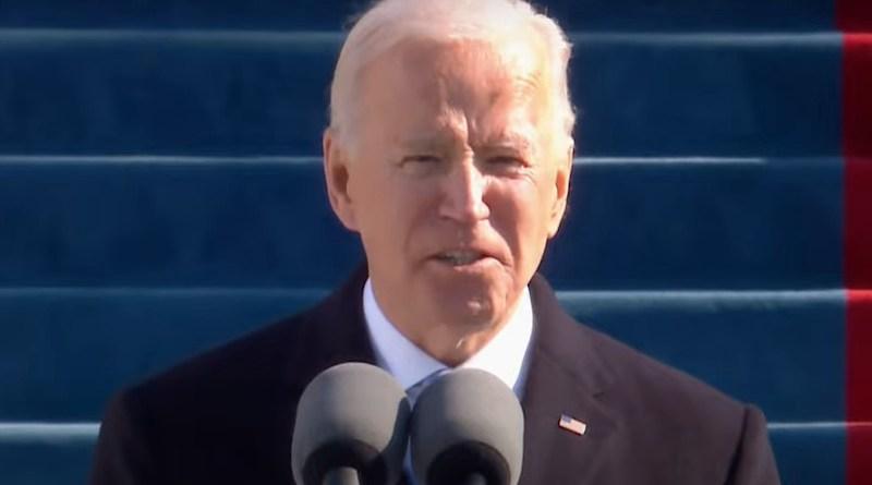 Inaugural Address by President Joseph R. Biden. Photo Credit: White House video screenshot
