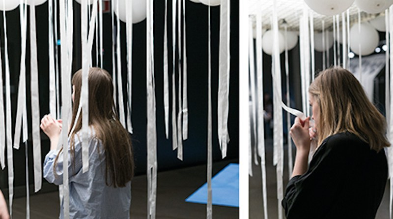 A way to explore smells, at an installation at the Swedish Textile Museum, 2017. Photo: Jyoti Kapur