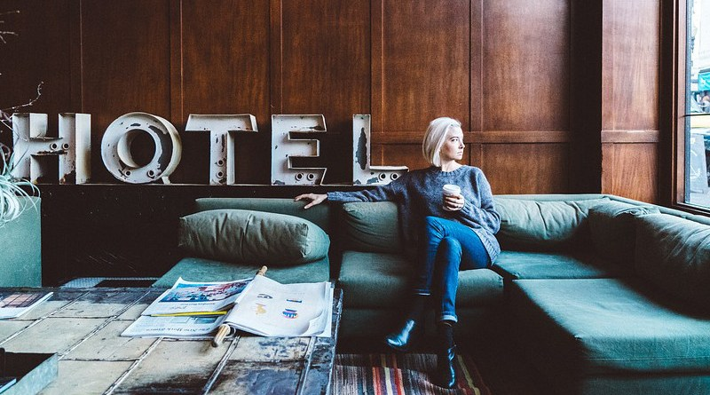 Hotel People Woman Relax Chill Coffee Couch Window