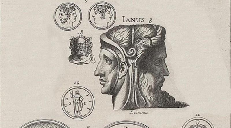 Different depictions of Janus from Bernard de Montfaucon's L'antiquité expliquée et représentée en figures. Credit: Wikipedia Commons