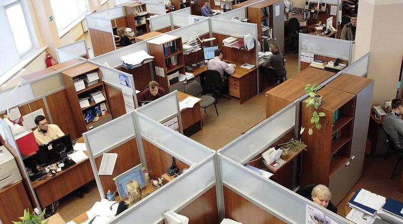 Office Men Women Working Workers Complex