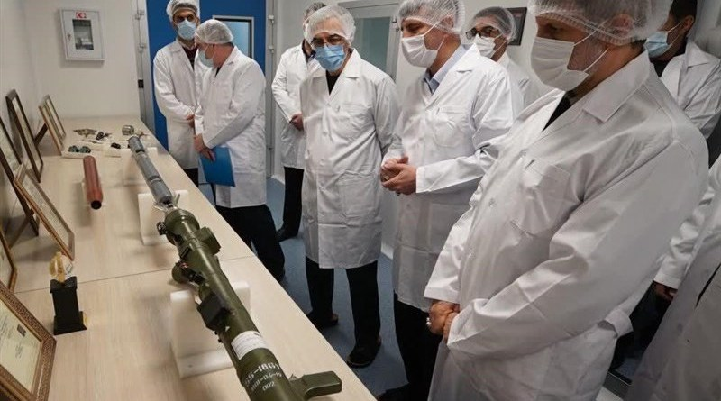 Iran inaugurates factory to manufacture shoulder-fired missiles. Photo Credit: Tasnim News Agency