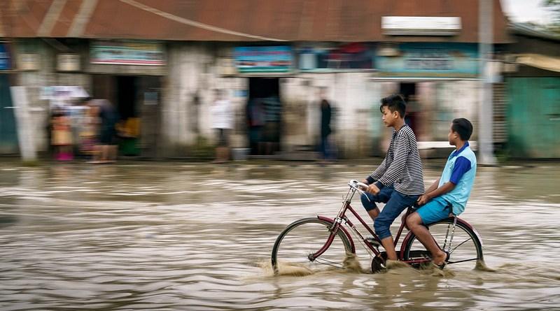 Poverty Flood Kids Cycle Street Bike Kid Child Bicycle