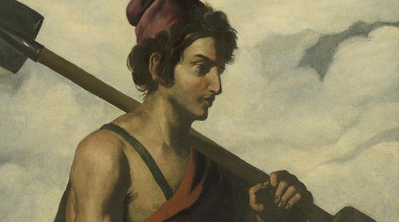 Detail of 1640-1645 painting of the patriarch Naphtali by Francisco de Zurbarán. He was the the sixth son of Jacob and the founder of the Israelite Tribe of Naphtali.