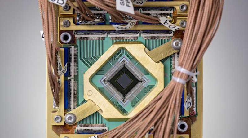 The researchers embedded a programmable model into a D-Wave quantum computer chip. CREDIT D-Wave