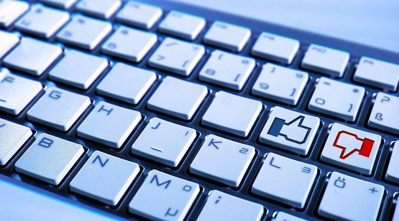 Keyboard Computer Facebook Blue Button No Like