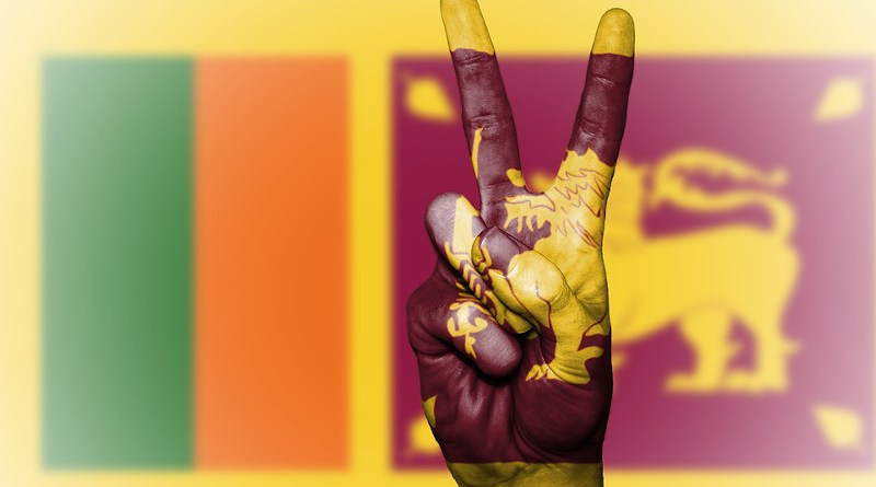 Flag Sri Lanka Sri Lanka Peace Hand Nation Background