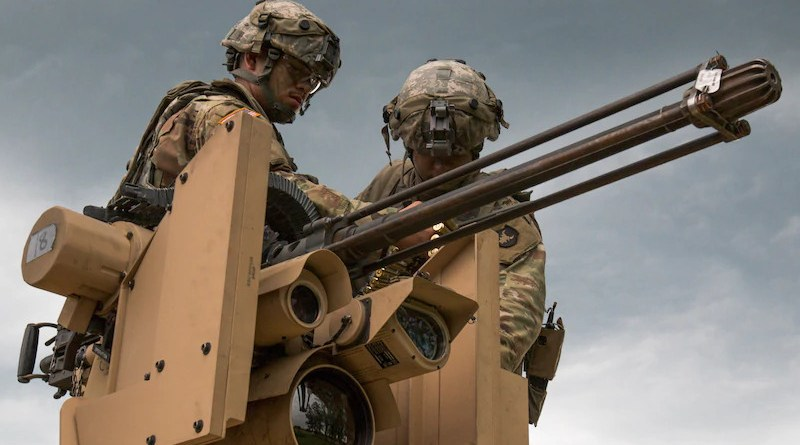 Infantrymen with Company D, 1st Battalion, 168th Infantry Regiment, 2nd Infantry Brigade Combat Team, Iowa Army National Guard, load Common Remotely Operated Weapon Station during eXportable Combat Training Capability rotation at Camp Ripley, Minnesota, July 19, 2019 (U.S. Army National Guard/Zachary M. Zippe)
