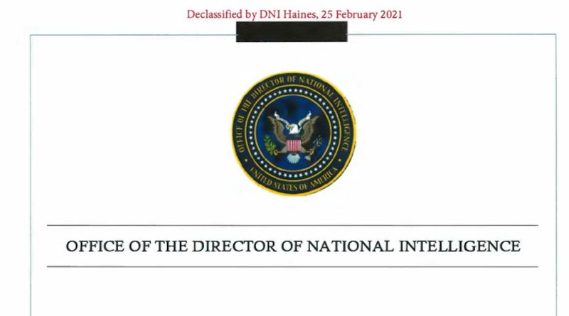 ODNI: Assessing The Saudi Government's Role In The Killing Of Jamal Khashoggi