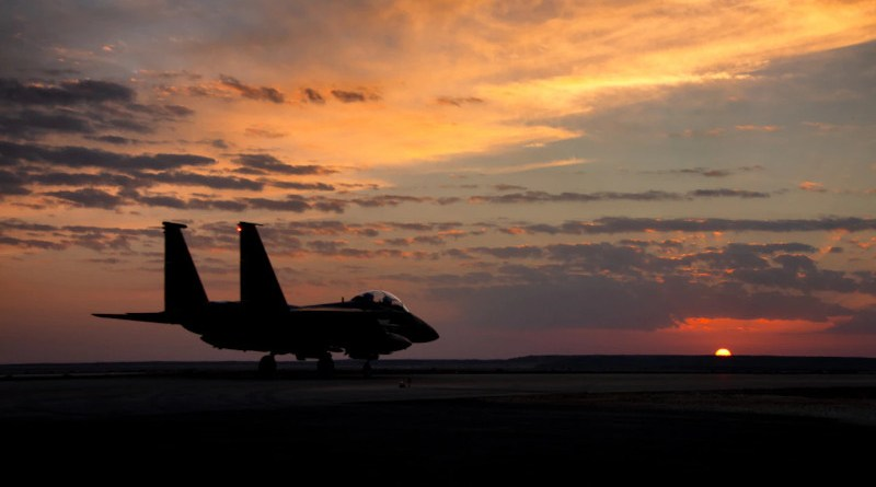 File photo of a US Air Force F-15E Strike Eagle. Photo Credit: Air Force Master Sgt. Jonathan Young, Air National Guard