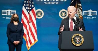 President Joe Biden, joined by Vice President Kamala Harris. (Official White House Photo by Adam Schultz)