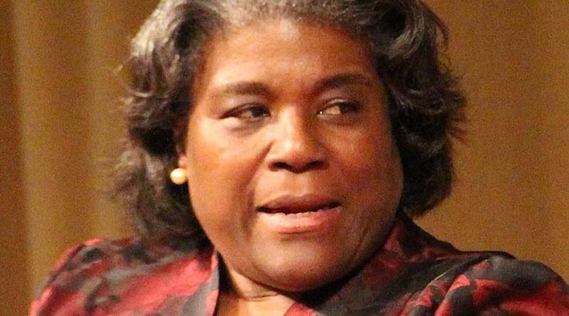File photo of Linda Thomas-Greenfield. Photo Credit: Avery Jensen, Wikipedia Commons