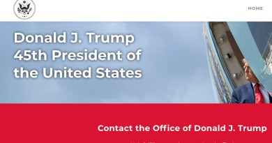 Former US President Donald Trump launches website. Photo Credit: Screenshot of 45office.com