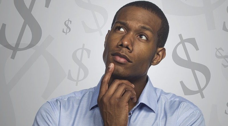 Man Thinking Money Debt Mortgage Investment Sales