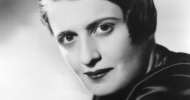 Ayn Rand in 1943. Photo Credit: Wikipedia Commons