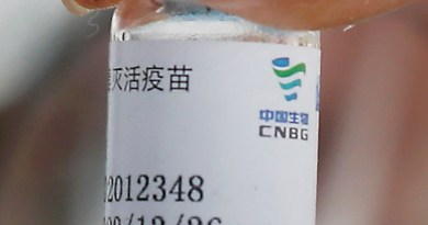 A vial of China's Sinopharm BBIBP-CorV COVID‑19 vaccine. Photo Credit: Ministerio de Defensa del Perú