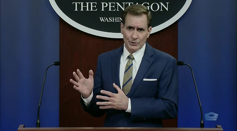 File photo of Pentagon press secretary John F. Kirby. Photo Credit: DoD