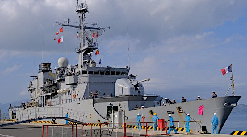 The French frigate Prairial is docked at Cam Ranh Port, Vietnam, March 9, 2021. Photo Credit: French Embassy in Vietnam
