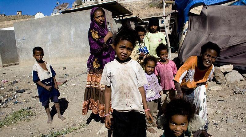 Children in an Akhdam neighborhood, Taizz, Yemen. Photo Credit: Mathieu Génon, justdia.org, Wikipedia Commons