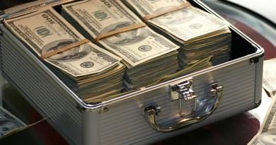 Briefcase Money Dollars Success Business Finance Cash