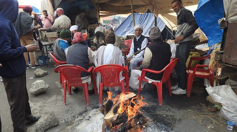 A photo from a section of the Indian farmers' protests on 3 January 2021. CC BY-SA 4.0