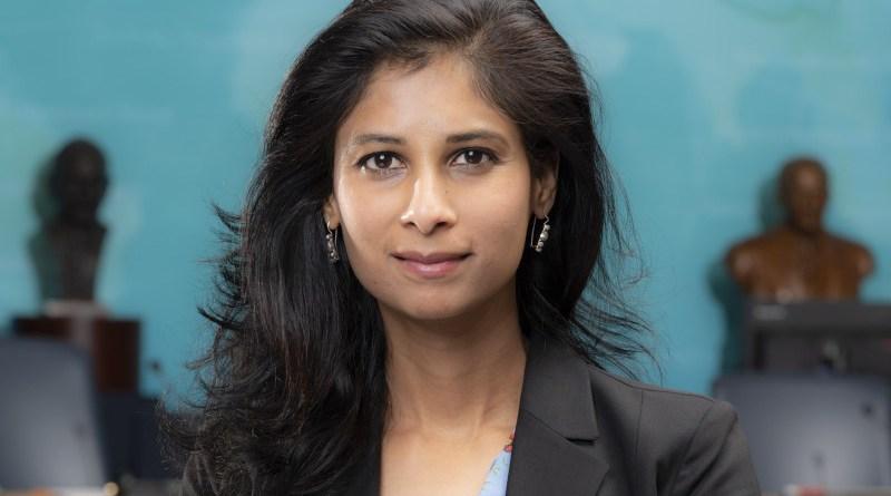Chief Economist Gita Gopinath. Photo Credit: IMF