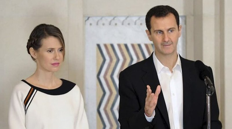 Syrian President Bashar al Assad and his wife Asma al-Assad. Photo Credit: Mehr News Agency