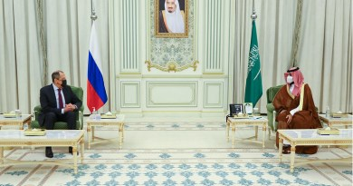 Minister of Foreign Affairs of the Russian Federation Sergey Lavrov meeting with Crown Prince of the Kingdom of Saudi Arabia, Mohammed bin Salman Al Saud. Photo Credit: Ministry of Foreign Affairs of the Russian Federation