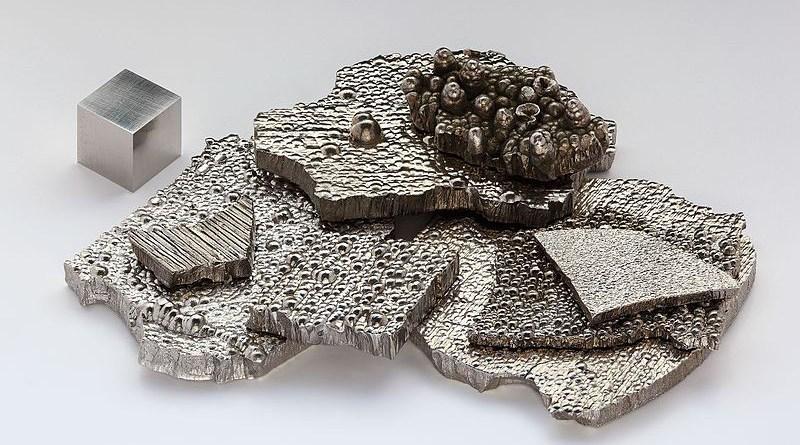 Cobalt chips. Photo Credit: Alchemist-hp, Wikipedia Commons