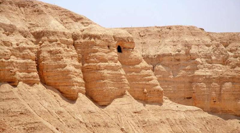 Qumran caves near the Dead Sea. Credit: Tamarah via Wikimedia (CC BY-SA 2.5)