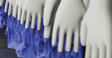 Manufacturing rubber gloves. Photo Credit: Margma