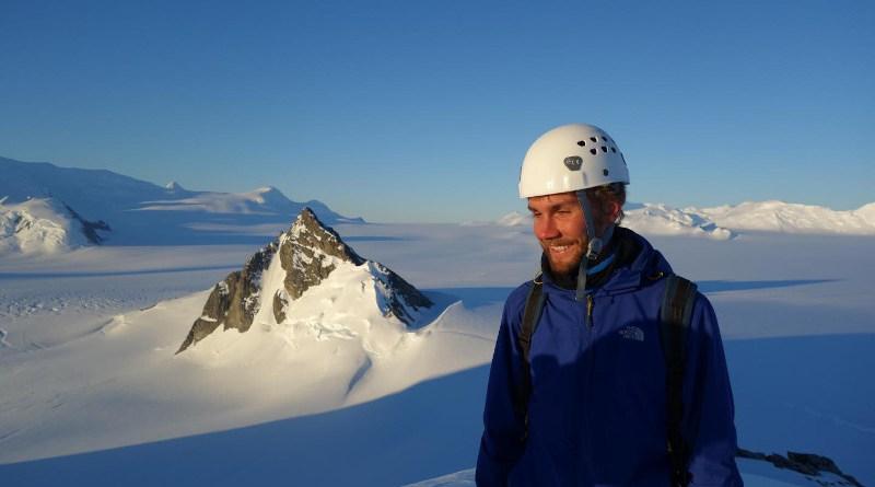 Dr Sebastian Rosier at Pine Island Glacier in 2015 CREDIT Dr Sebastian Rosier