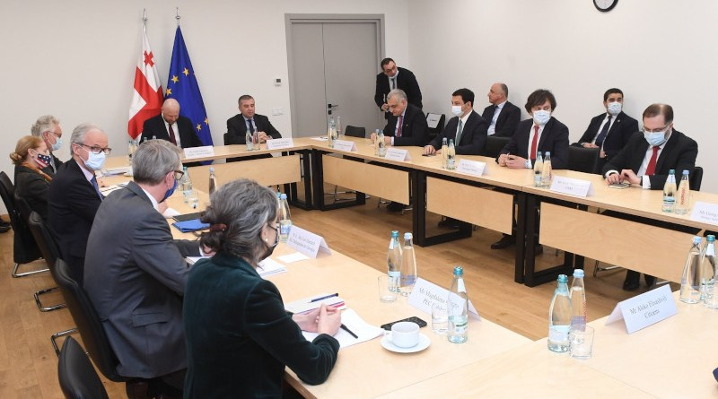 U mediator Christian Danielsson meets with members of Georgia's ruling and opposition parties in Tbilisi. (photo: EU Delegation Georgia)