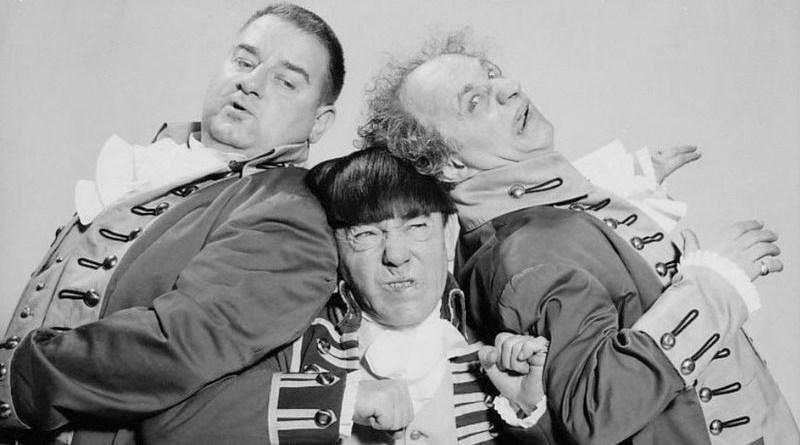 The Three Stooges. Photo Credit: NBC Television, Wikipedia Commons