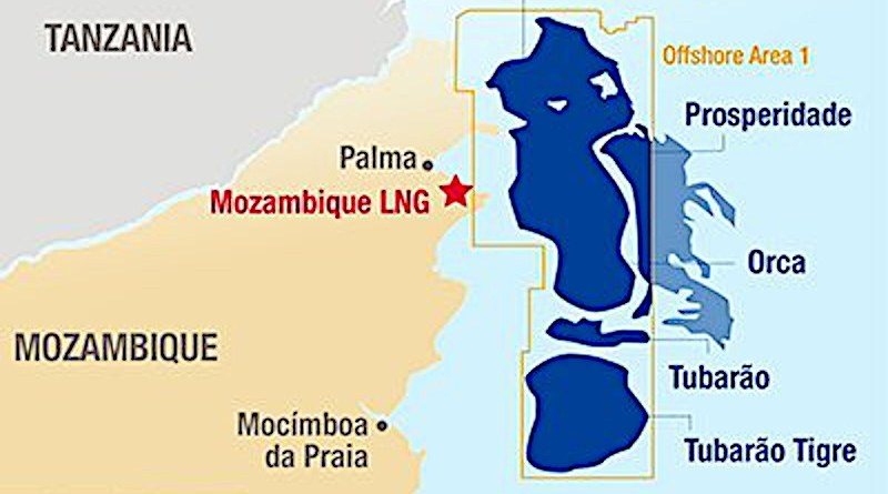Location of Mozambique LNG project. Credit: Total