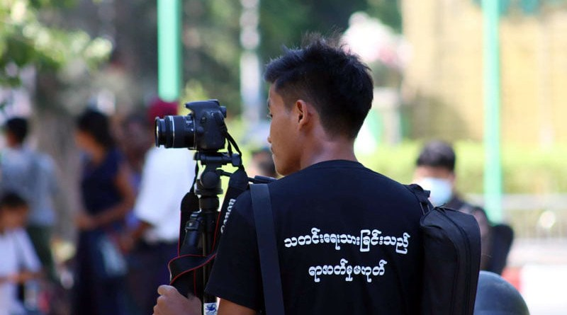 Journalist in Myanmar. Photo Credit: DMG