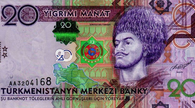 A 20 manats Trumenistan banknote. Photo Credit: Central Bank of Turkmenistan