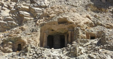 The Large Temple of Sikait seen from the wadi floor CREDIT Authors