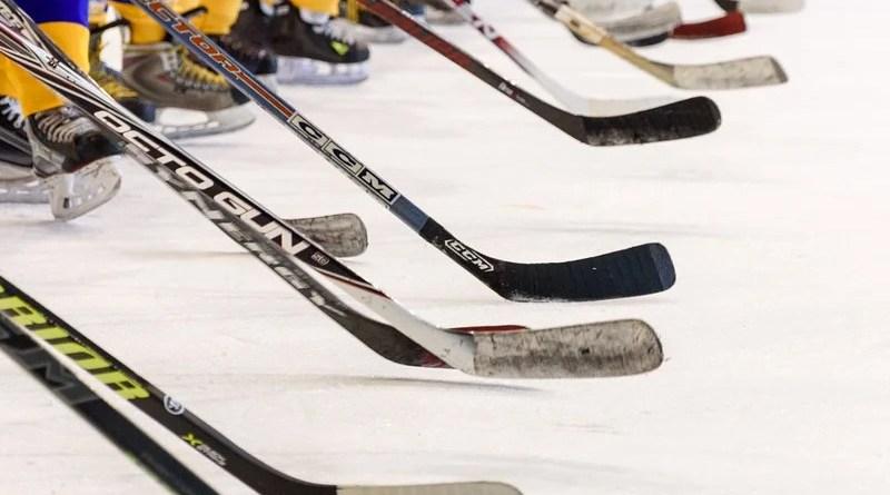 Hockey Team Hockey Game Ice Skating Rink Sticks