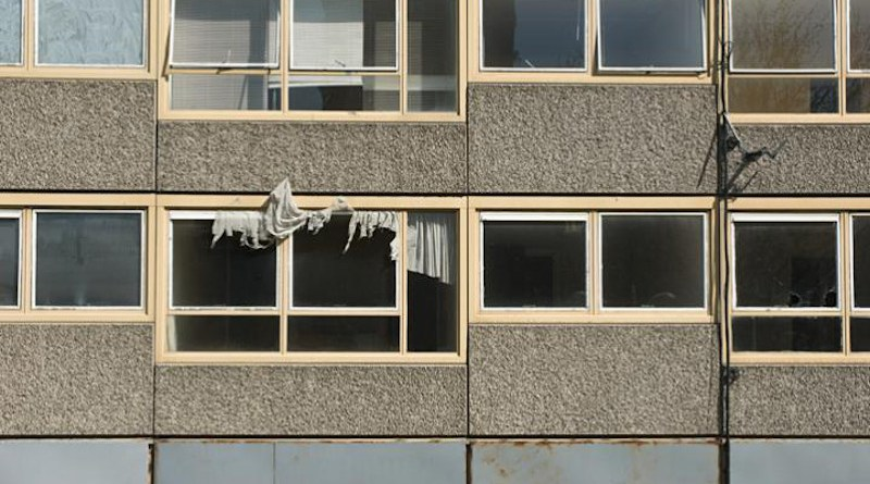 Flats on Heygate Estate, South London CREDIT Getty images