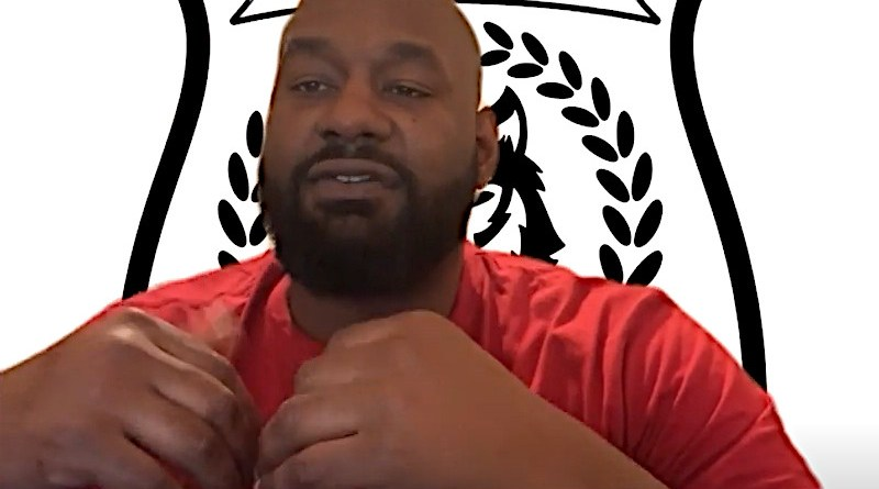 Hawk Newsome, a founding member of Black Lives Matter (BLM) Greater New York. Photo Credit: Screenshot of Arab News interview