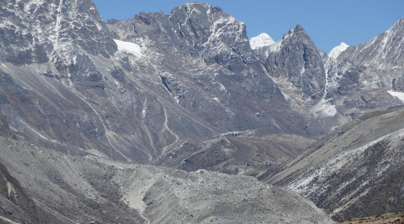 A rock glacier in the Khumbu Valley, Nepal. CREDIT Stephan Harrison