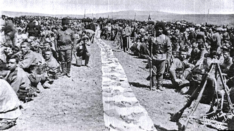 Troops of the 4th Armenian Battalion serving with the Imperial Russian Army, pictured in 1914. (Photo public domain)