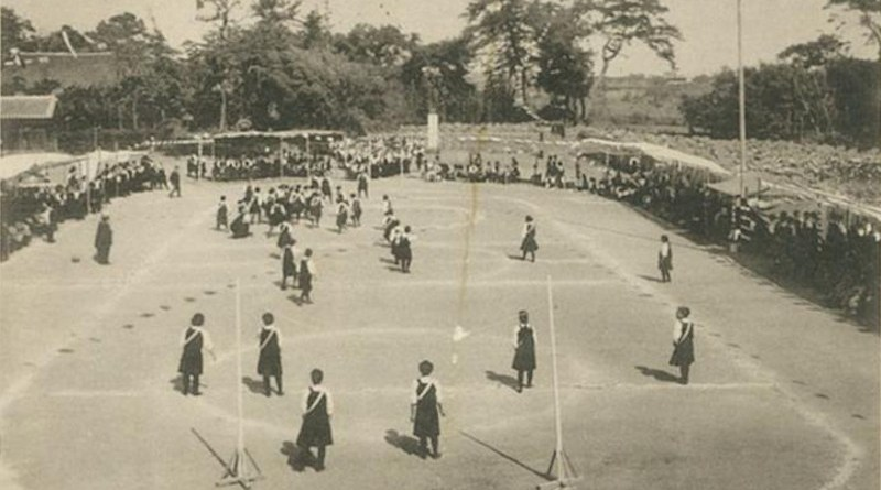 The oldest known photo of women's football in Japan, from 1916 (Taisho 5). It was discovered in Hundred Years' History, a book detailing the history of the Oita Prefectural Public High School for Girls (Yoshihiro Sakita, et al. Japan Journal of Physical Education, Health and Sports Science. March 11, 2021). CREDIT Yoshihiro Sakita, et al. Japan Journal of Physical Education, Health and Sports Science. March 11, 2021