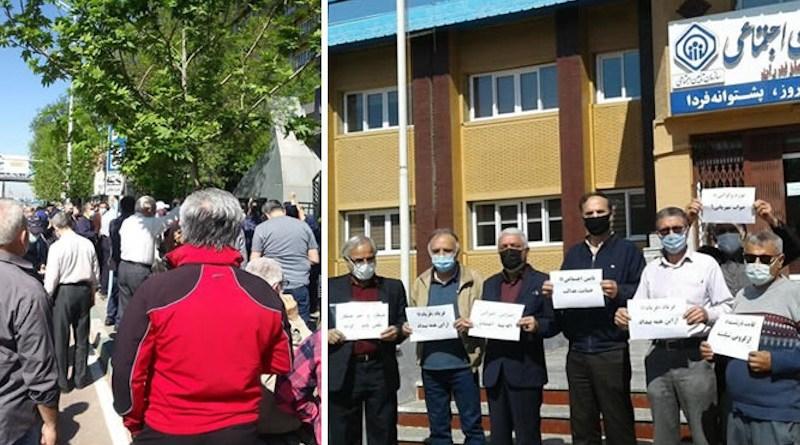 Pensioners protest in Iran. Photo Credit: Iran News Wire